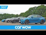 BMW M2 v M4 v M5 30 Jahre v M6 - 360 degree DRAG RACE  Head-to-Head