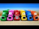 Сюрпризы MINI CARS3 Машинки и Транспортировщики Мак / Mack Развивающее видео для детей...
