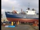 В Светлом спустили на воду первое за постсоветские годы рыболовецкое судно