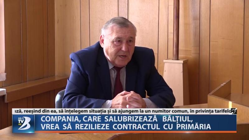 COMPANIA, CARE SALUBRIZEAZĂ BĂLȚIUL, VREA SĂ REZILIEZE CONTRACTUL CU PRIMĂRIA