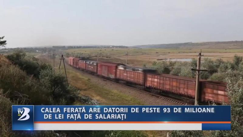 CALEA FERATĂ ARE DATORII DE PESTE 93 DE MILIOANE DE LEI FAȚĂ DE SALARIAȚI