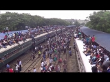 Поезд в Бангладеше. Люди на Крыше. ЖЕСТЬ!