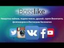 Накрутка подписчиков и лайков с помощью BossLike
