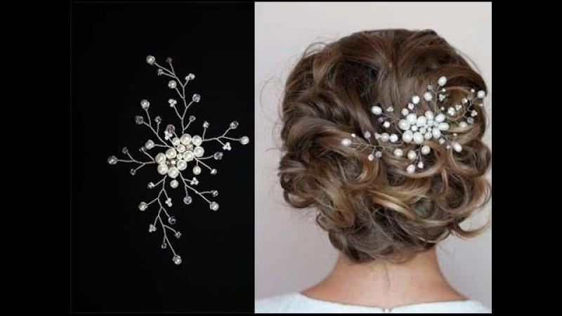 Tutorial Hair Piece Pearl Hair Pin Hair Comb Accessory Hair Vine