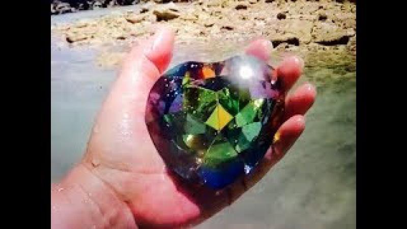 REAL RAINBOW HEART OF OCEAN GEMS FOUND ON REMOTE ISLAND ON FUN HOUSE TV