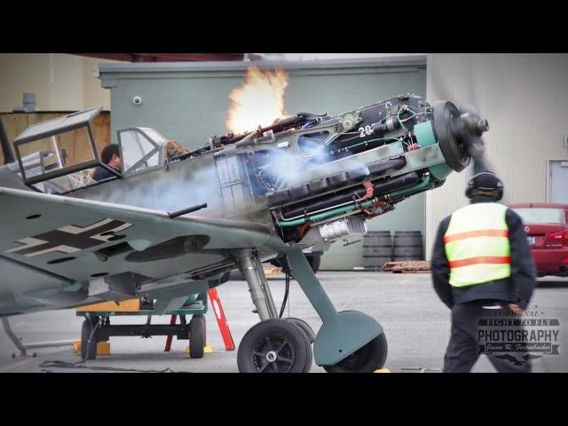Daimler-Benz 601 Engine Runs - Messerschmitt Bf 109