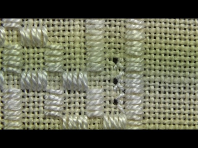 22 Happy Birthday Sampler - Hardanger - White Algerian Eyelets