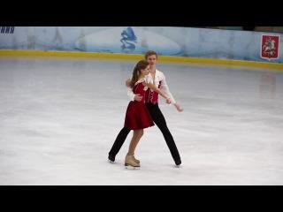 Полина ИВАНЕНКО / Даниил КАРПОВ, произвольный танец, Первенство Москвы 2017, старш ...