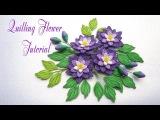 QUILLING FLOWER v2 TUTORIAL  Diy PAPER FLOWER  v2 TUTORIAL