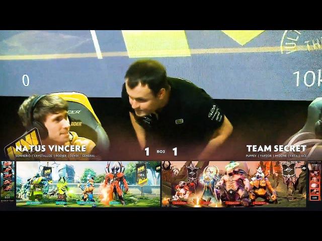 🍌 ХВОСТ ПОМОГАЕТ НАВИ ПРЯМО НА СЦЕНЕ | NAVI vs Team Secret | Dendi vs Puppey