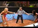 WWF Ms Kitty vs Tori for the womens title chocolate pudding