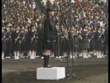 Japanese spirit. Japan's national anthem. High school girls sing.
