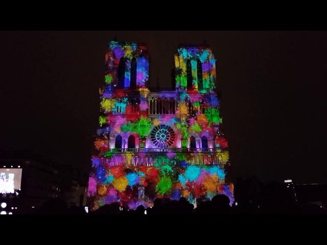 Dame de Coeur Notre-Dame de Paris HD Video Mapping PART 2