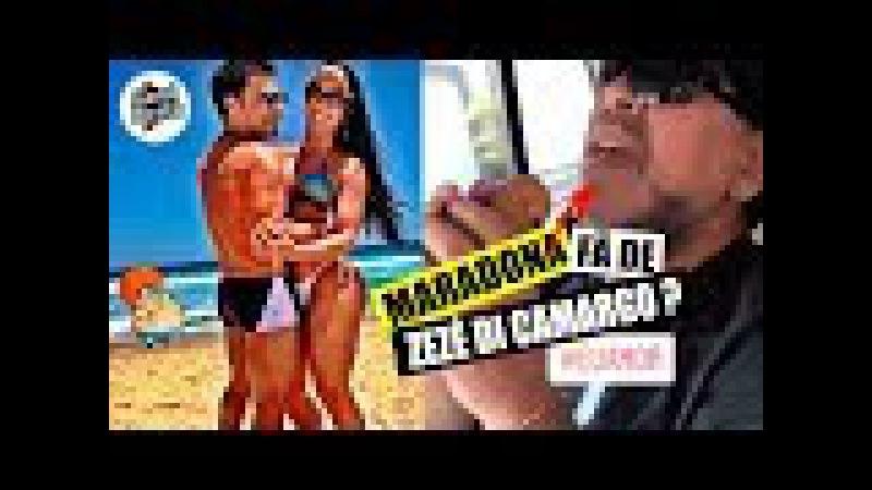 Maradona ouvindo Zezé di Camargo? Maradona fã de Zezé di Camargo?