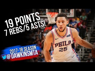 Ben Simmons Full Highlights 2017.10.13 vs Heat - 19 Pts, 7 Rebs, 5 Ast in 3 Quarters! #NBANews #NBA