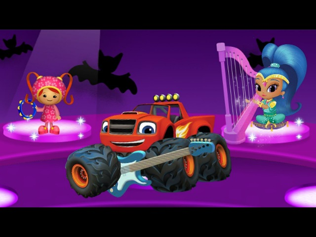 Shimmer and Shine, Paw Patrol, Bubble Guppies Halloween Music Maket. Games