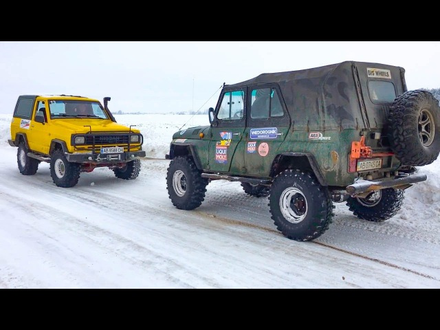 ➤ Nissan Patrol vs УАЗ vs Land Rover Discovery vs Daihatsu Feroza