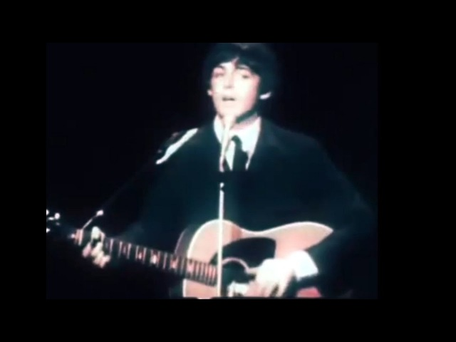 Цветное видео Beatles - Yesterday, live 1965, in color! В цвете!