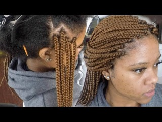 How To Tuck Natural Hair Color Inside Colored Braids || Views From A Living Room Stylist