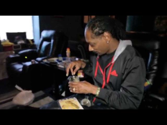Snoop Dogg rollin up Zodiak Kurupts MoonRocks while playing unrealeased song w/ Pharrell moon rock
