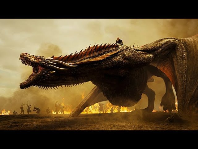 Daenerys Targaryen the Dragon Rider - Lannister Battle Dragon Scenes - Season 7x04