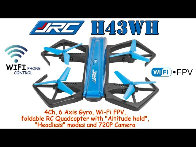 JJRC H43WH 4Ch, 6 Axis, Wi-Fi FPV, foldable RC Quadcopter, Altitude hold, Headless, 720P Cam (BNF)