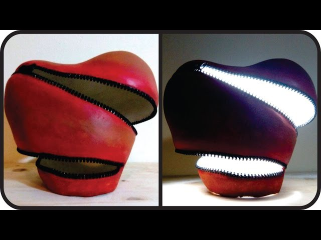 ❣DIY Unzipped Heart Lamp - Unique Valentines Day Gift Idea❣