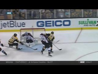 Gotta See It- Varlamovs pad robs Pastrnak with goal line stance / Варламов останавливает прорыв Пастерняка