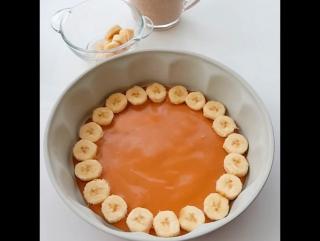 Карамельно-банановый торт