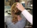 Причёска на волосы средней длины (пучок из жгута)