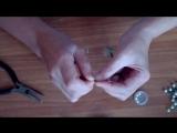 Бутоньерка Ландыши из шелка. Вырезание, окраска, подклейка. Ч.1