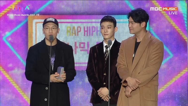[CUT] 171202 Melon Music Awards: Best Rap/Hiphop — Nosedive @ EXO