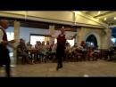 Кипрский вечер и танец со стаканами. Танцевал с пирамидой из 14 стаканов, один мой