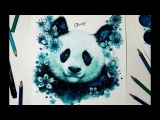 Speed Drawing - PANDA BEAR &amp SAKURA
