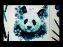 Speed Drawing - PANDA BEAR SAKURA 【Aquarela /Watercolor Speedpaint】