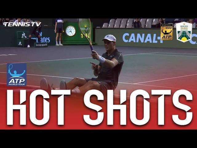 Hot Shot: Bob Bryan Dives For Incredible Volley Winner In Paris 2017