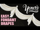 How to Make EASY FONDANT DRAPES Tutorial Yeners Cake Tips with Serdar Yener from Yeners Way