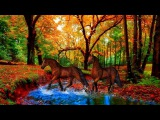 ?The Beauty Of Autumn - animals and colors! ... (painting) ... (Music Eugen Doga)?