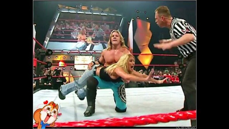 [WCOFP] Trish Stratus Gets Spanked By Chris Jericho (Christian vs Jericho Match)