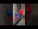 Playing 'the floor is lava' with Spider-man ??
