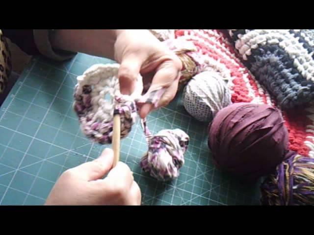 Мастер класс вяжем круглый бабушкин коврик