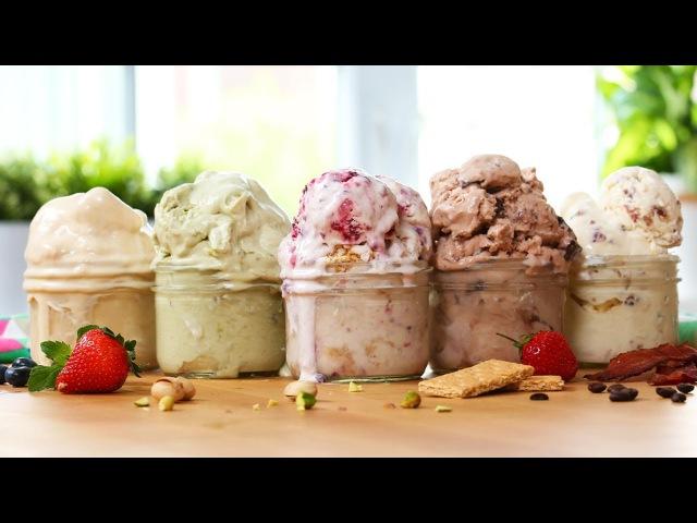 5 EASY Ice Cream Recipes! | SOOOOO GOOD
