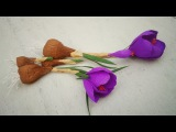 How To Make Saffron Crocus Paper Flower From Crepe Paper - Craft Tutorial