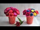 Kwiaty z bibuły do kompozycji krok po kroku Crepe paper flowers step by step DIY
