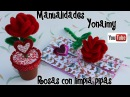 1_ROSAS HECHAS CON LIMPIA PIPAS . PIPE CLEANER ROSES .