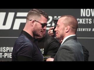 UFC 217: Michael Bisping vs. GSP Staredown - MMA Fighting ufc 217: michael bisping vs. gsp staredown - mma fighting