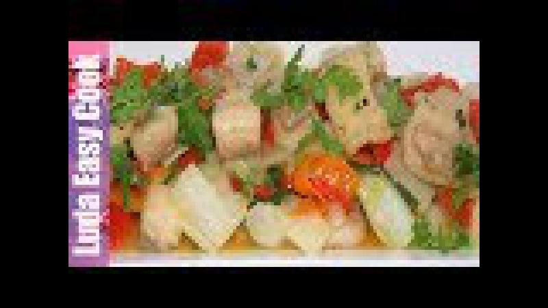 ВКУСНАЯ РЫБА в КИСЛО-СЛАДКОМ СОУСЕ с ОВОЩАМИ по-китайски | Fried Fish in Sweet and Sour Sauce
