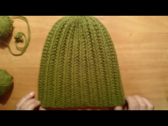 ШАПКА СПИЦАМИ Рельефным объёмным узором )crochet cable beanie hat tutorial