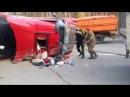 М55 серпантин вытаскивали водителя ДТП
