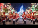 2017 Mickey's Once Upon A Christmastime Parade at Very Merry Christmas Party w Princesses Frozen